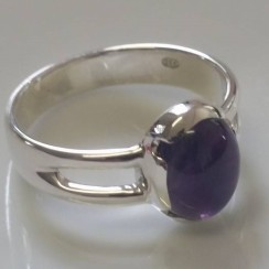 Sterling Silver Amethyst Ring - $420 © Miles Blum Designs