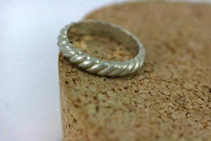 Sterling Silver Rope Ring - $90 © Miles Blum Designs