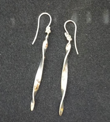 Sterling Silver Twist Earrings - $150 © Miles Blum Designs